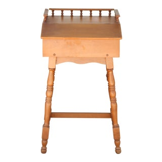 1960s Wooden Sewing Cabinet For Sale