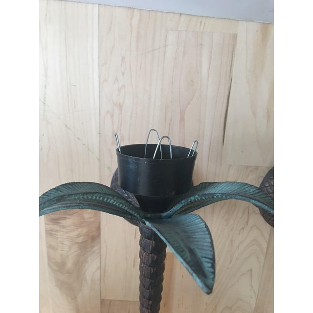 Cast Iron Palm Tree Sconces - A Pair - Image 6 of 8