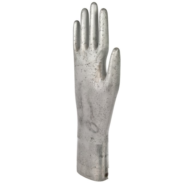 Vintage Aluminum Industrial Glove Mold - Image 3 of 3