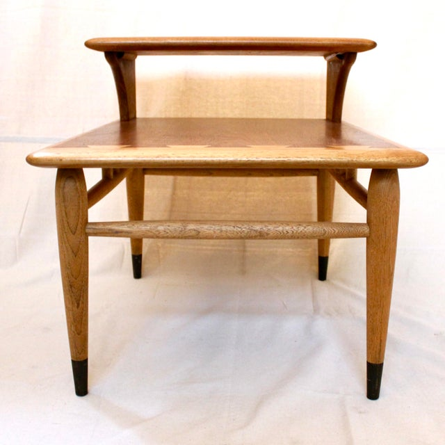 Mid-Century Modern 1960s Mid-Century Modern Walnut and Oak Lane Acclaim Step Tables - a Pair For Sale - Image 3 of 13
