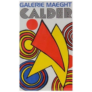 Galerie Maeght Alexander Calder Lithograph Poster, Circa 1970s For Sale