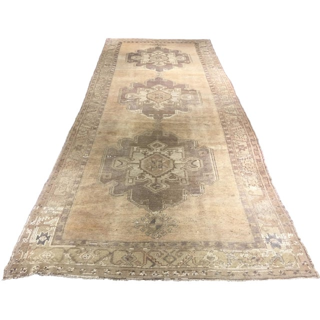 Turkish Oushak Runner - 5' x 13' - Image 1 of 8