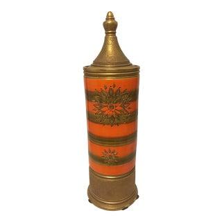 1960s Vintage Mid Century Rosenthal Tall Jar For Sale