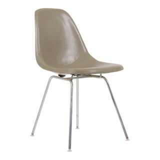 Vintage Herman Miller Eames Dsx Fiberglass Padded Shell Chair For Sale