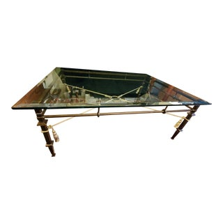 Harden Furniture Bevelled Glass Coffee Table For Sale