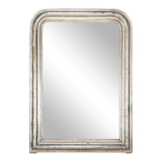 Louis Philippe Arched Silvered Mirror For Sale