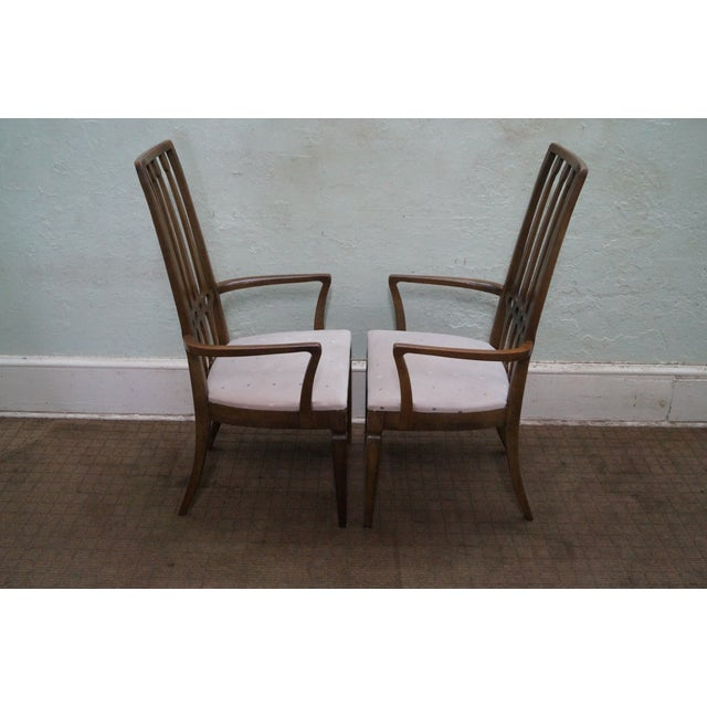 Thomasville Mid Century Hollywood Regency Chairs For Sale - Image 7 of 10