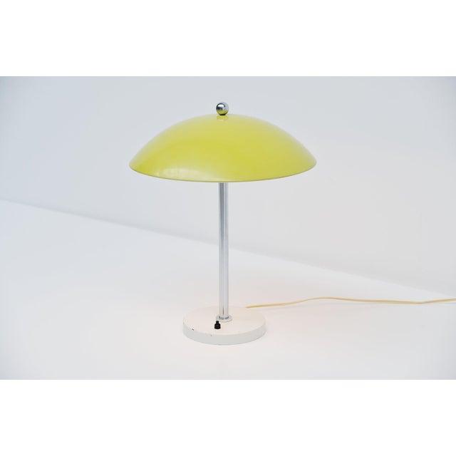 Gispen Wim Rietveld Yellow Mushroom Table Lamp by Gispen, 1950 For Sale - Image 4 of 7