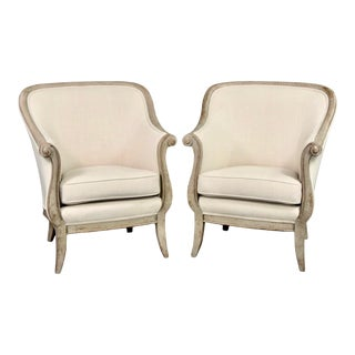 Mid Century Barrel Back Lounge Chairs by Decca Europe - a Pair For Sale