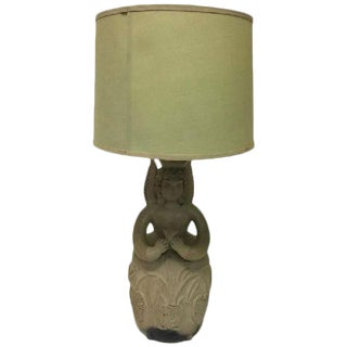 Angel Pottery Lamp, Circa 1960s For Sale