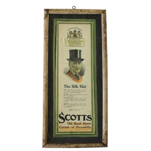 Framed Scott & Co. Silk Hat Ad For Sale