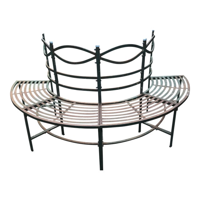Round French Tuileries Bench - Image 1 of 8