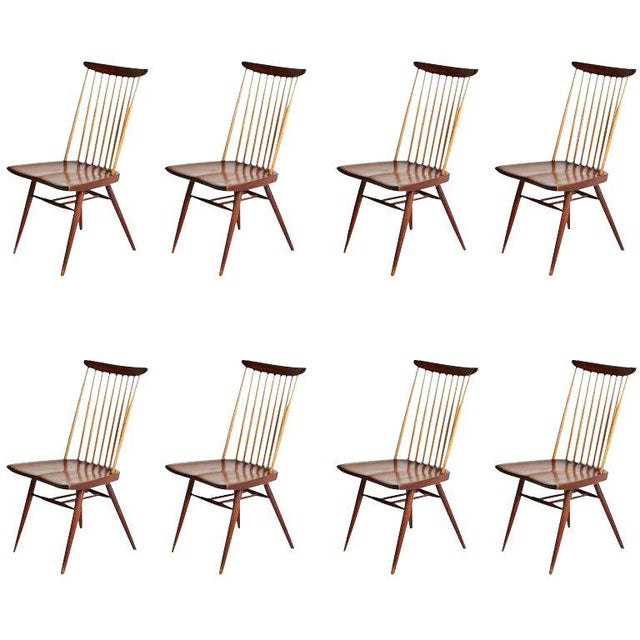 "George Nakashima ""New"" Chairs, Set of Eight, Authenticated 1960s Production For Sale - Image 13 of 13"