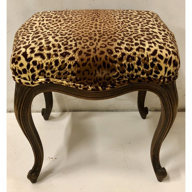 French Pair of French Ottomans For Sale - Image 3 of 7