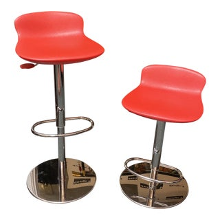 Brf Leo Adjustable Swivel Bar Stools, a Pair For Sale