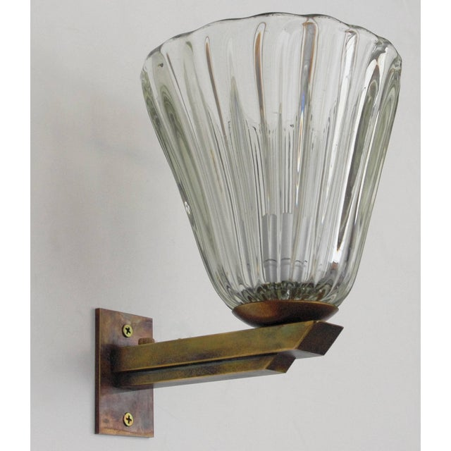 Vintage Mid Century Single Bell Sconce by Barovier E Toso Final Clearance Sale For Sale In Palm Springs - Image 6 of 10