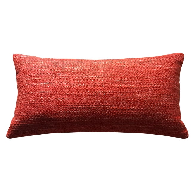 Knoll Mid Century Modern Lumbar Pillow in Paprika - Image 1 of 3