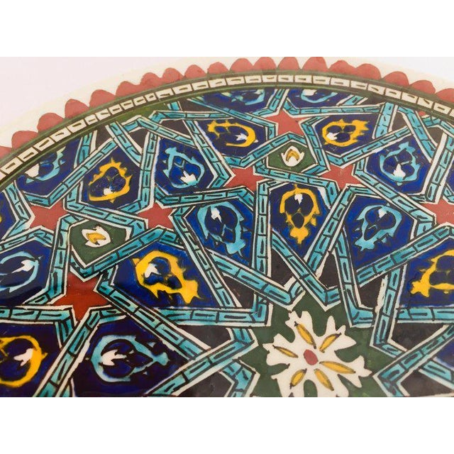 Islamic Hand Painted Ceramic Decorative Plate With Islamic Koranic Calligraphy For Sale - Image 3 of 13