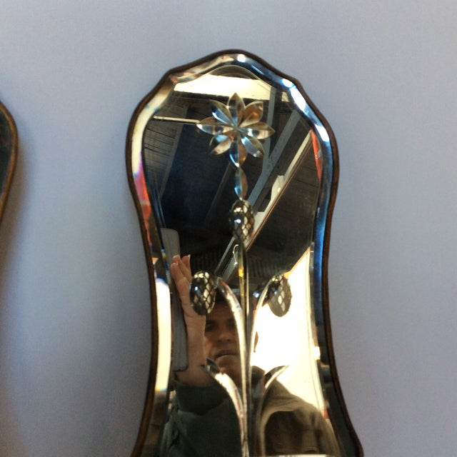 Cut Glass Mirrored Sconces - A Pair - Image 6 of 9