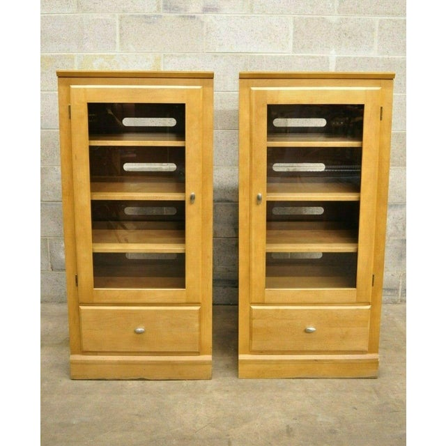 Ethan Allen Elements Maple Bookcase-a Pair For Sale - Image 13 of 13