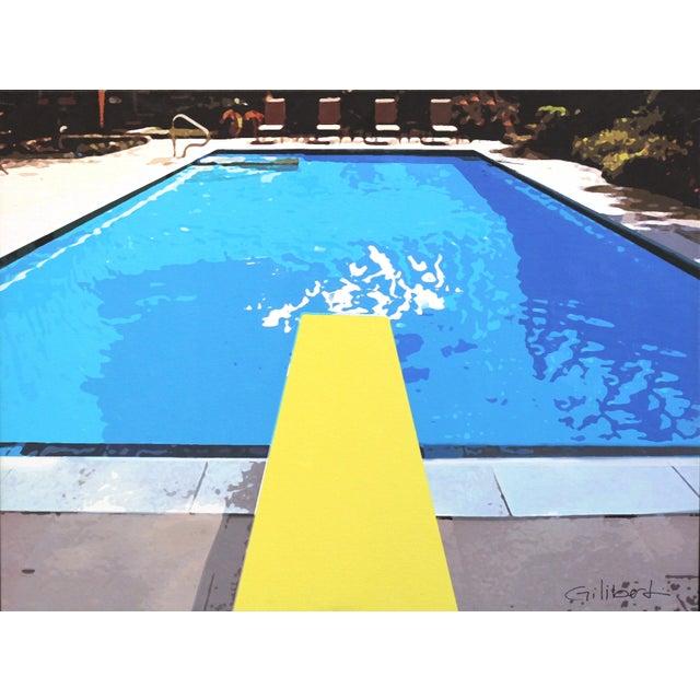 """Swimming Pool"" Acrylic Painting by Michael Giliberti - Image 1 of 10"