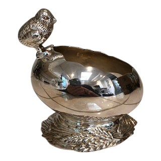 Silver Plated Egg With Chick For Sale