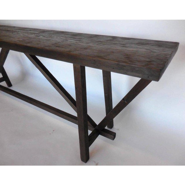 Reclaimed Wood Buttress Console For Sale In Los Angeles - Image 6 of 9