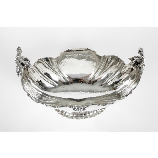 Silver Antique Sterling Silver Boat Shape Centerpiece For Sale - Image 8 of 13