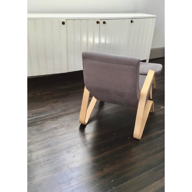 "Vintage Eero Saarinen Model 61 ""Grasshopper"" Chair + Ottoman - 2 Pieces For Sale In Raleigh - Image 6 of 10"