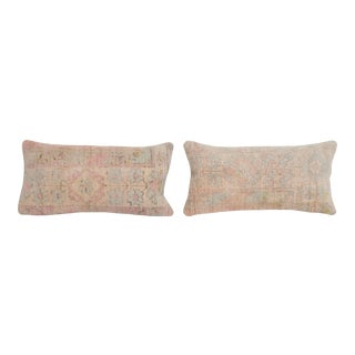 Muted Turkish Carpet Wool Pillow - a Pair For Sale
