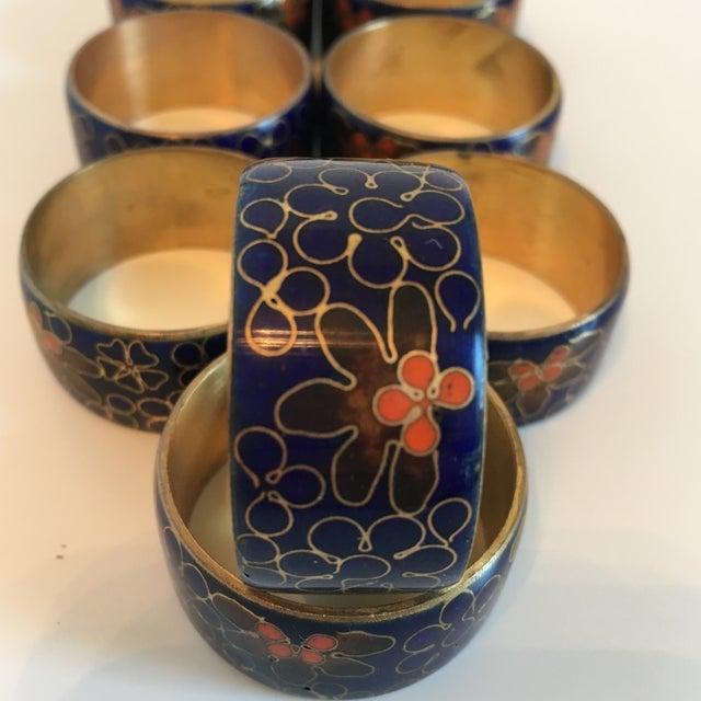 Blue Cloisonné Napkin Rings - Set of 8 - Image 7 of 8