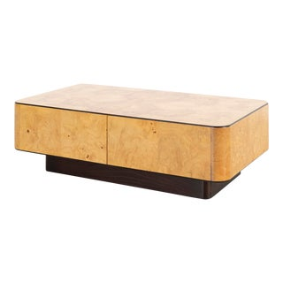 Henredon Burlwood Hidden Storage Cocktail Table For Sale