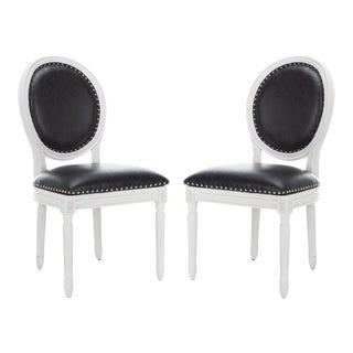 White & Black Holloway Chairs - A Pair For Sale