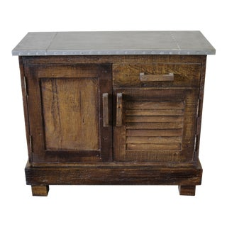 Zinc Top Reclaimed Wood Cabinet