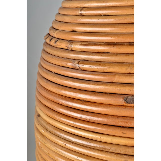 Large Rattan Lamp With Shade For Sale In New York - Image 6 of 8