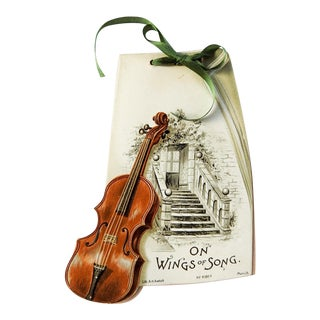 On Wings of Song Poetry Booklet With Violin For Sale