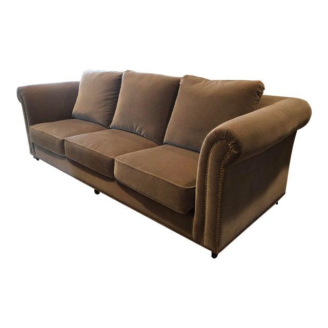 3 Seat Custom Natural Mohair Sofa For Sale