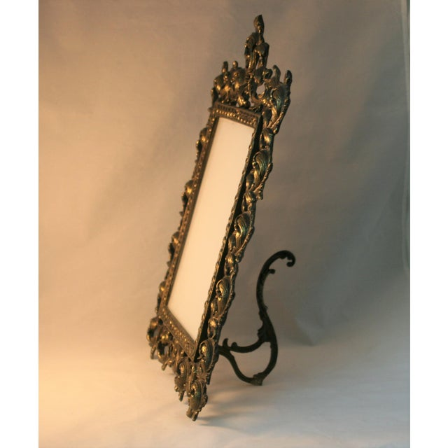 Vintage Brass Rococo Table Top Picture Frame - Image 4 of 6