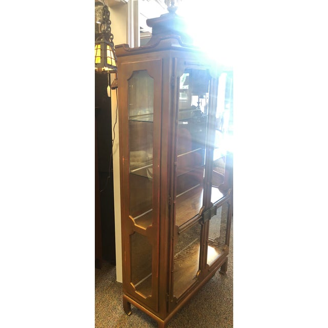 Metal James Mont Chinoiserie Pagoda Curio Cabinet For Sale - Image 7 of 13