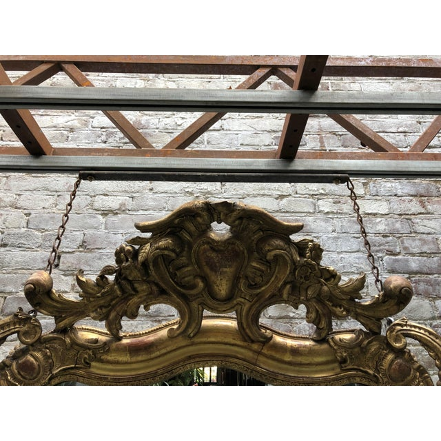 Wood Special 19th Century Mirror From the South of France For Sale - Image 7 of 12