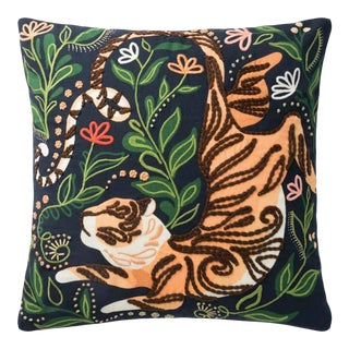 Down Filled Tiger Throw Pillow For Sale