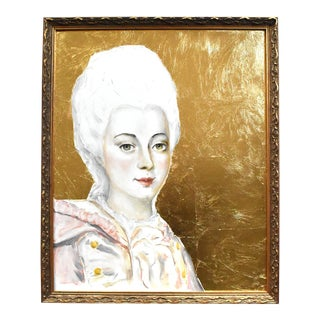 Contemporary 18th Century Portrait Painting by S. Carson For Sale