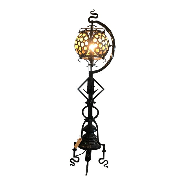Hand-wrought Arts & Craft Table Lamp - Image 1 of 10