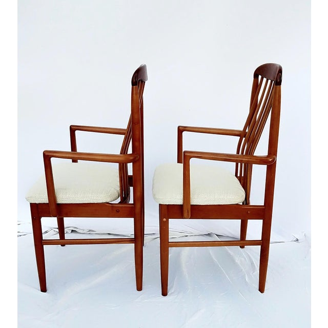 Danish Modern 1960s Danish Modern Benny Linden Walnut Arm Chairs - a Pair For Sale - Image 3 of 11