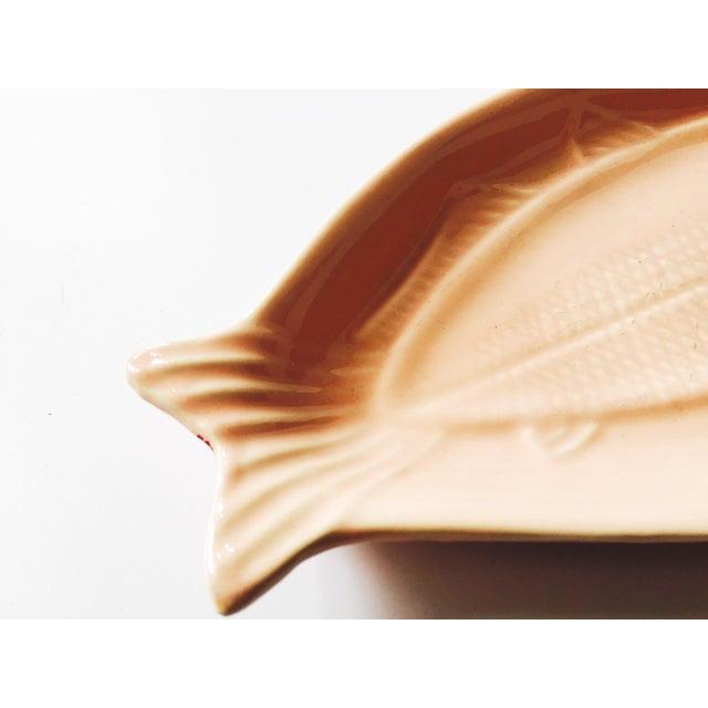 Pink Ceramic Fish Dish For Sale - Image 4 of 4