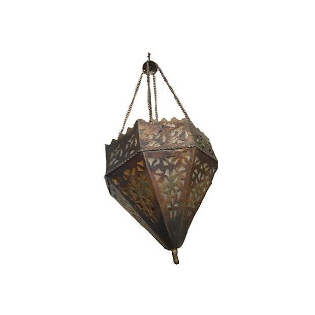 Vintage Turkish Brass Pendant For Sale - Image 5 of 5