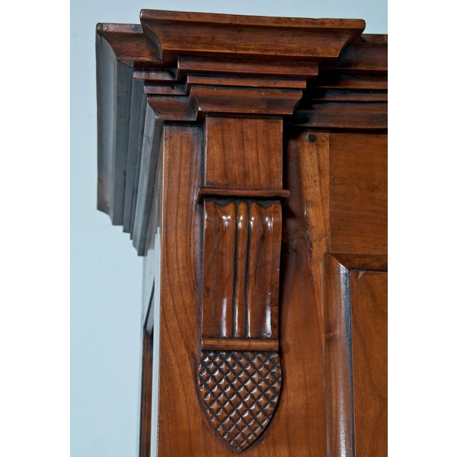 Brown 19th Century Walnut Italian Armoire For Sale - Image 8 of 9