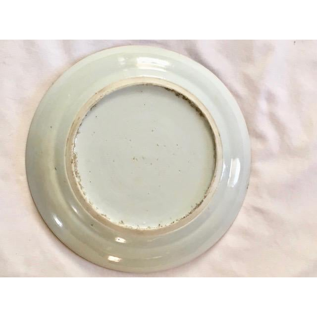 Ceramic 19th Century Chinese Rose Medallion Plate For Sale - Image 7 of 8