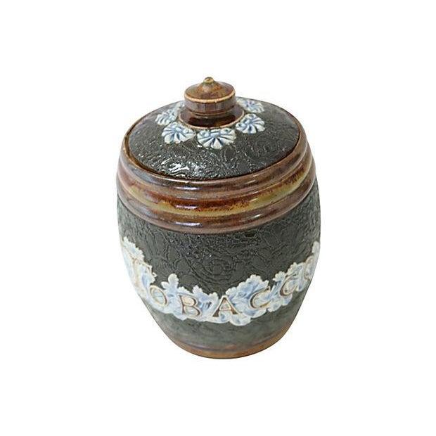 Antique Doulton Lambeth Tobacco Jar - Image 2 of 4
