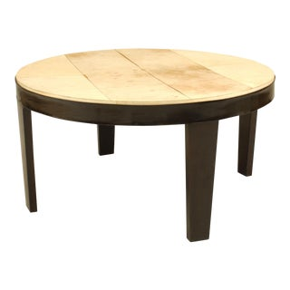 Italian 1950s Round Ebonized Coffee Table For Sale